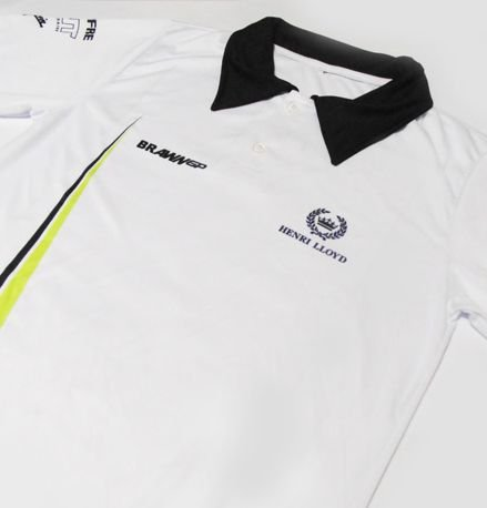 ES149 - Camisa Pólo Dry Fit - Estampa BRAWN GP - TEAM F1