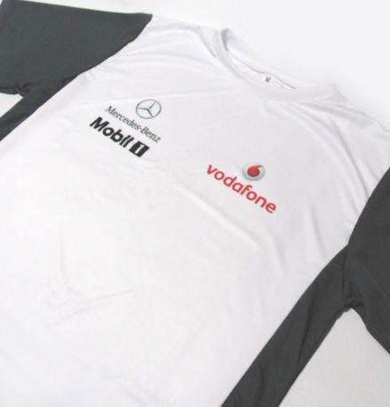 ES152 - Camiseta Bicolor Dry Fit - Estampa MERCEDES VODAFONE F1