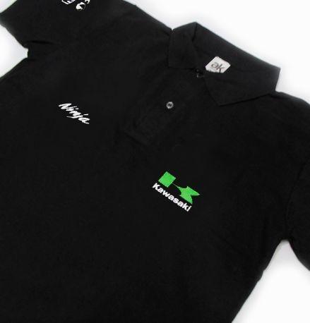 FR026 - Camisa Pólo - Estampa KAWASAKI NINJA - Moto GP