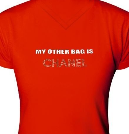 ST042 - Baby Look - Estampa My Other Bag is  Chanel em rec. laser e Strass