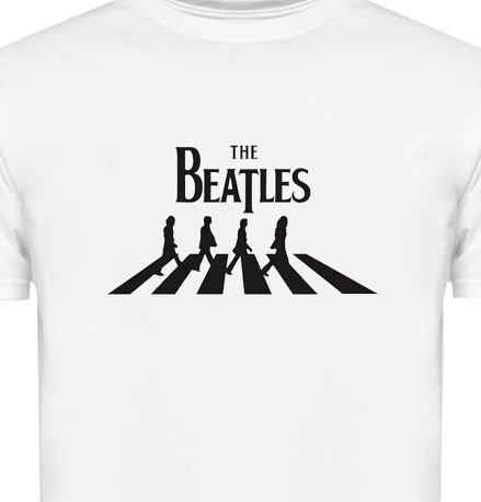 ST086 - Camiseta - Estampa The Beatles em Recorte a Laser