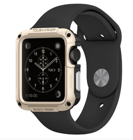 Capa SGP Spigen Tough Armor Apple Watch 42 mm Champagne Gold