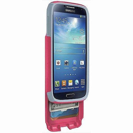 Capa Otterbox Commuter Wallet p/ Samsung S4 - Rosa e Cinza
