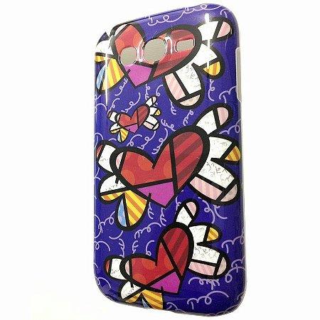 Capa Samsung Gran Duos ( I9080 / I9082 ) Romero Britto Flight Hearts