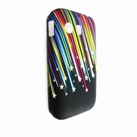 Capa Case Samsung Galaxy Y S5360 Arco Íris de Estrelas