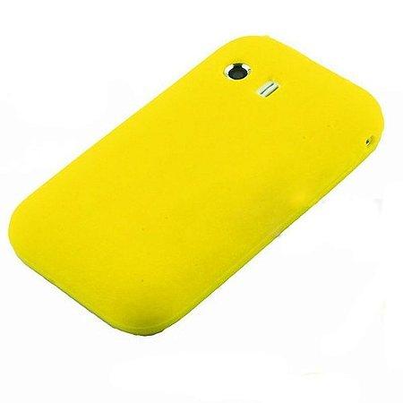 Capa Case Samsung Galaxy Y S5360 de Silicone Amarelo