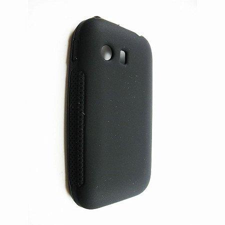 Capa Case Samsung Galaxy Y S5360 de Silicone Preto