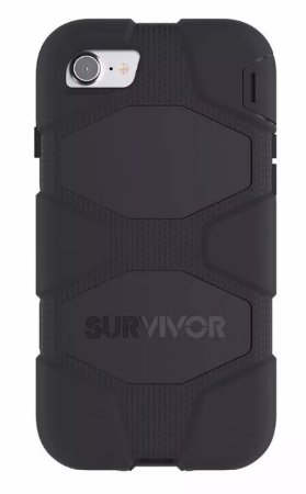 Capa Griffin Survivor All Terrain para iPhone 7 Plus - Preto