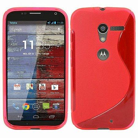 Capa Case S Type para Motorola Moto X de TPU Vermelho