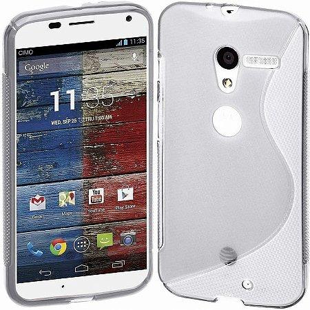 Capa Case para Motorola Moto X de TPU Transparente