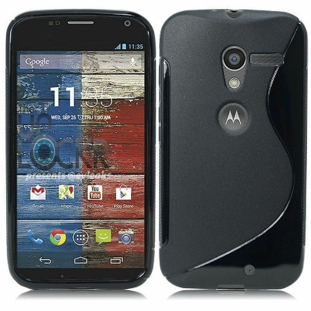 Capa Case S Type para Motorola Moto X de TPU Preto