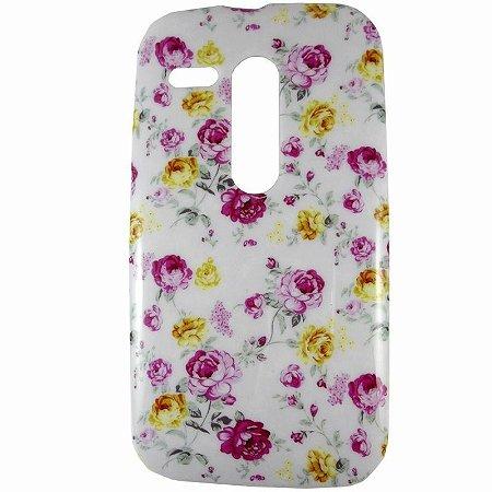 Capa Case Floral de Rosas para Motorola Moto G