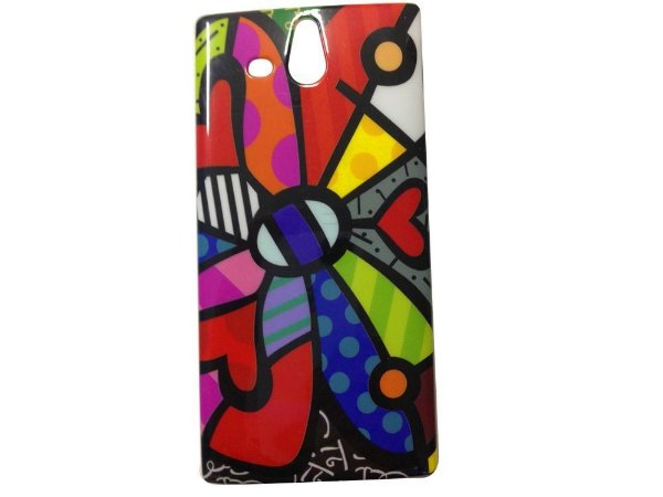 Capa Case Sony Xperia U MARGARIDA MULTI COR .