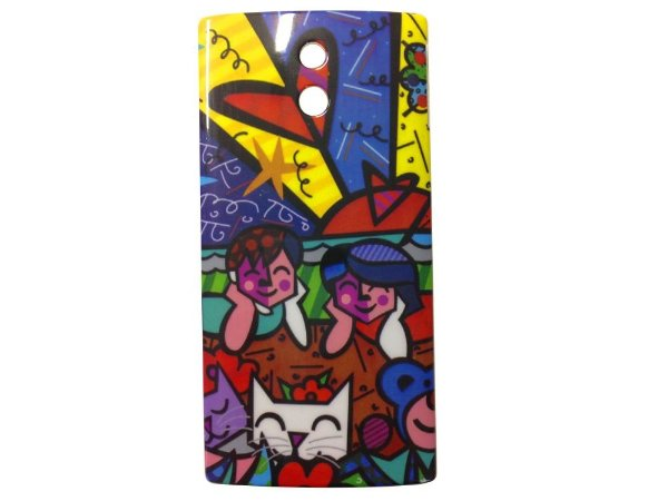 Capa Case Sony Xperia P Romero Britto Brothers and Cats.