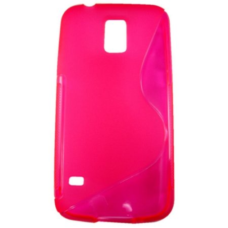 Capa Case S Type para Samsung Galaxy S5 de TPU Pink Fluor