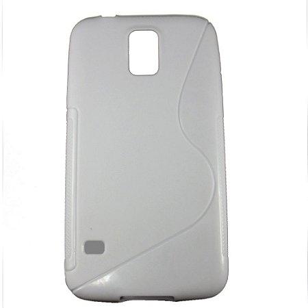 Capa Case S Type para Samsung Galaxy S5 de TPU Branca .