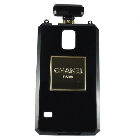 Capa Case Chanel No.5 Perfume Bottle para  Samsung Galaxy S5 Preto