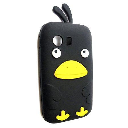 Capa Case Samsung Galaxy Y S5360 Passarinho Preto