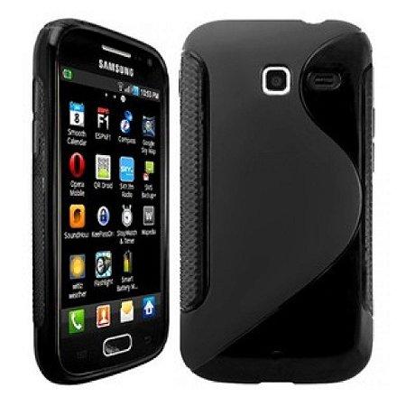 Capa Case S Type para Samsung Galaxy Wave Y S5380 TPU Preto