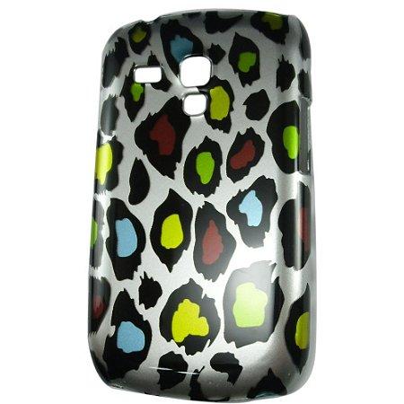 Capa Onça Metalizada de Plástico para Samsung Galaxy S3 mini