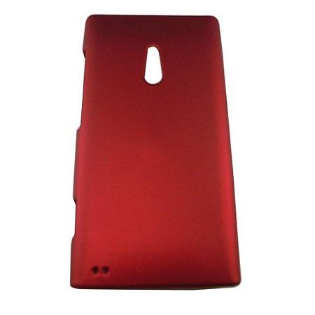 Capa de Plástico Resistente para Nokia Lumia 800 - Vermelho