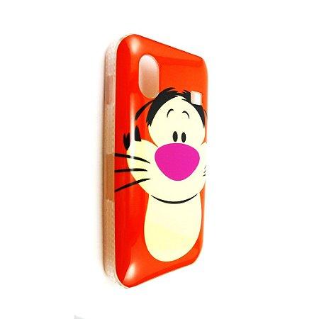 Capa Case para Samsung Galaxy Ace ( S5830) Disney Ursinho Puff  / Tigrão