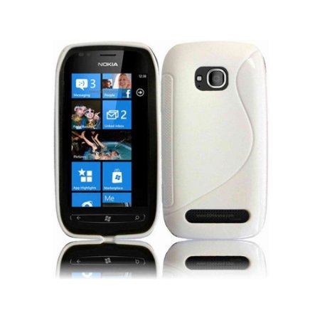 Capa de TPU Branco para Nokia Lumia 710