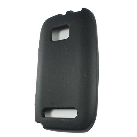 Capas de Silicone Preto para Nokia Lumia 710