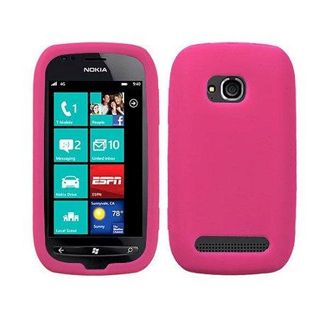 Capas de Silicone Pink para Nokia Lumia 710
