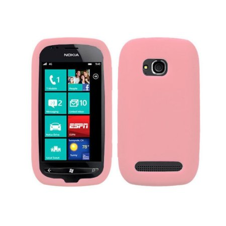 Capas de Silicone Rosa para Nokia Lumia 710