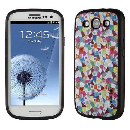 Capa Speck Fabshell GeoMosaic Print para Samsung Galaxy S3