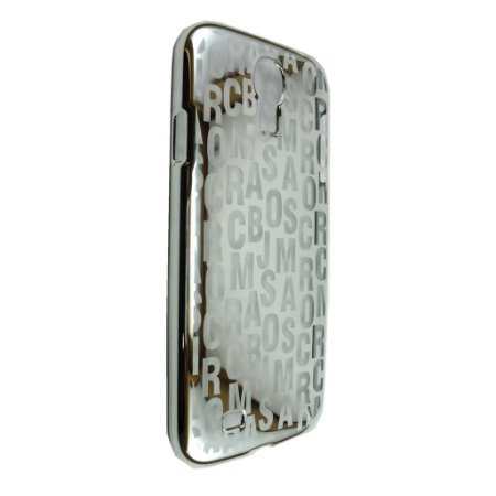Capa Case Marc by Marc Jacobs Letras Prata para Samsung Galaxy S4