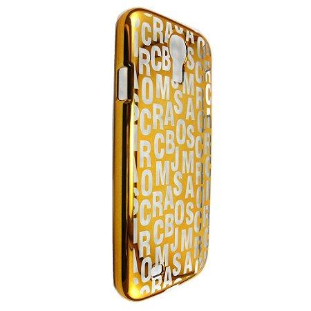Capa Case Marc by Marc Jacobs Letras Dourado para Samsung Galaxy S4