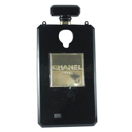 Capa Case Chanel No.5 Perfume Bottle para  Samsung Galaxy S4 Preto.