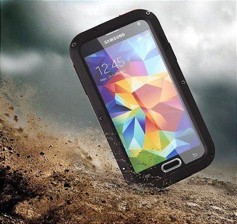 Capa Case Blindada proteção Militar para Samsung Galaxy S5 - Preta