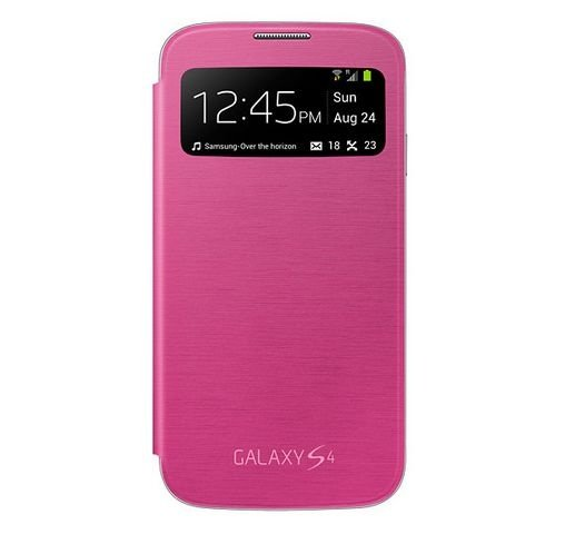 Capa Case para Samsung Galaxy S4 Flip Cover View - Pink