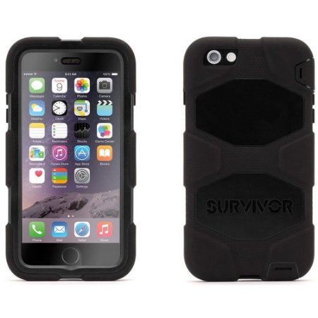 Capa Griffin Survivor All Terrain para iPhone 6 Plus - Preto