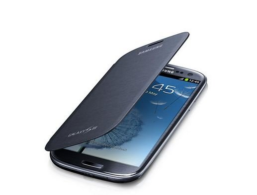 Capa Case para Samsung Galaxy S3 Flip Cover - Azul Escuro