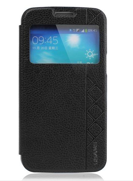 Capa Case USAMS Flip de Couro para Samsung Galaxy S5 - Preto