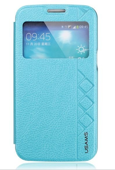 Capa Case USAMS Flip de Couro para Samsung Galaxy S5 - Turquesa