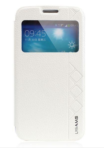 Capa Case USAMS Flip de Couro para Samsung Galaxy S5 - Branco