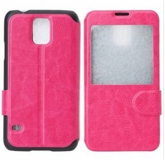 Capa Case Flip de Couro para Samsung Galaxy S5 - Pink