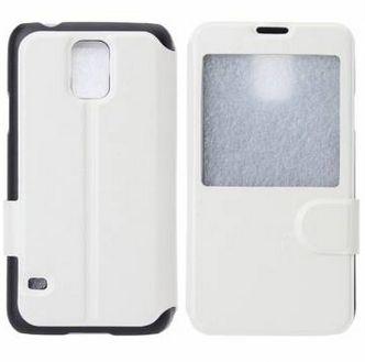 Capa Case Flip de Couro para Samsung Galaxy S5 - Branco