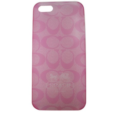 Capa Case Coach Monogram Rosa para iPhone 5 / 5s