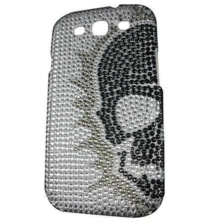 Capa Case Caveira de Strass para Samsung Galaxy S3