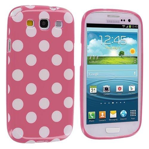 Capa Case Poá Bolinha Rosa e Brancopara Samsung Galaxy S3