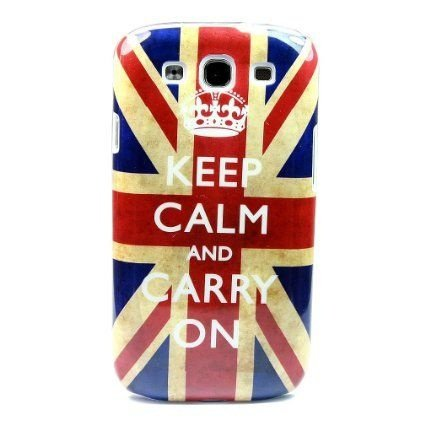 Capa Case Keep Calm and Carry On Inglaterra para Samsung Galaxy S3