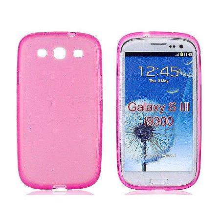 Capa Case TPU Pink Translucido Fosco para Samsung Galaxy S3