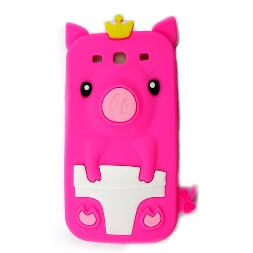 Capa Case Porco Rei Pink para Samsung Galaxy S3