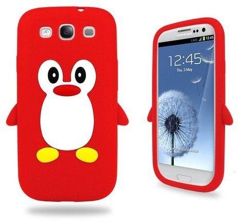 Capa Case Pinguim Vermelho para Samsung Galaxy S3